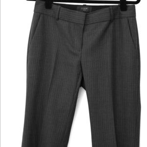 Pinstripe grey wool J. Crew trousers
